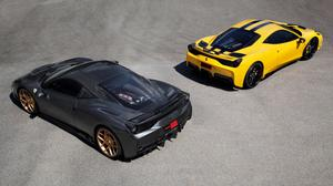 Black And Yellow Novitec Rosso Ferrari 458 HQ Image Free Wallpaper