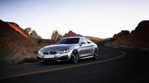 Road View Of Bmw Car Hd Wallpaper Free Photo