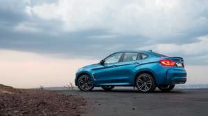 Sky View And Bmw X6 Za F16 Blue Side View Free Download Wallpaper HD