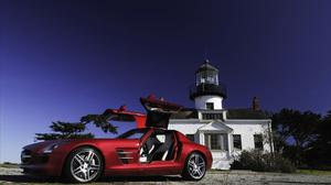 Mercedes Benz Sls Red Color Car Free Transparent Image HD