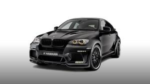 Hamann Bmw X6M Black Front And Side View Download HD Wallpaper