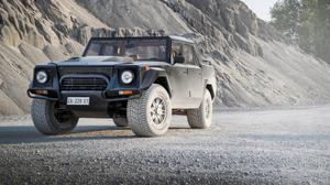 Lamborghini Lm002 On Road HQ Image Free Wallpaper