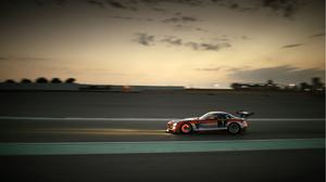 Racing Sport Car Mercedes Sls Evening View Free Download Image