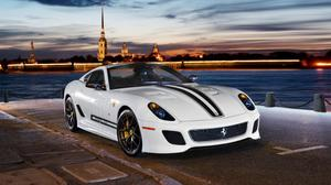 White Ferrari 599 Gto 2 Download HD Wallpaper