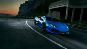 Blue Lamborghini Huracan Free Download Wallpaper HQ