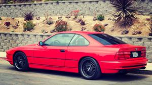 Bmw E31 1997 850Ci Red Color Side View HD Image Free Wallpaper