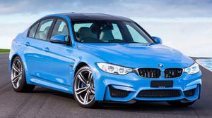 Bmw M3 F80 Blue Side Front Close Up Download HQ Wallpaper