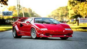 Bertone Lamborghini Countach 1990 Red Free Download Image