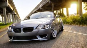 Bmw Z4 Silver And Sunrise View Free HQ Image