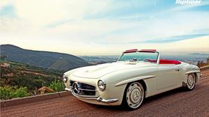 White Mercedes Benz Classic Car Wallpaper Download Free