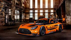 Orange Mercedes Amg Gt3 Race Car 2019 Download Free Image