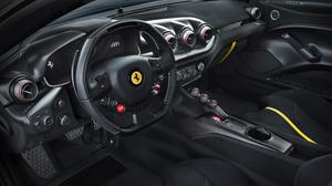 Ferrari F12 Tdf Car Interior HD Image Free Wallpaper