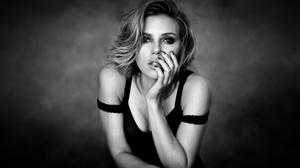 Scarlett Johansson Black And White Photo HD Image Free Wallpaper
