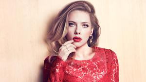 Scarlett Johansson Red Outfit Marie Claire Download HD Wallpaper