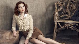 Scarlett Johansson Vintage Themed Photoshoot HQ Image Free Wallpaper