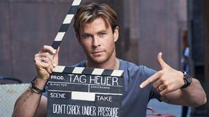 Chris Hemsworth Movie Shoot Free Photo Wallpaper