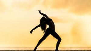 Woman Dancing Silhouette Contemporary Free Transparent Image HD