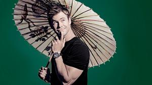 Chris Hemsworth With Chinese Umbrella Photo Free Transparent Image HQ