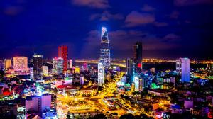 Night City Background Of Ho Chi Minh City Wallpaper Image High Quality