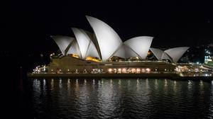 Night View Opera House Sydney Australia Wallpaper File HD