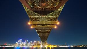 Sydney City Harbour Bridge Night View Download HD Wallpaper