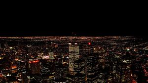 Night City Aerial View Free Transparent Image HQ