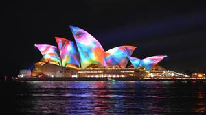 Colorful Lights Opera House Sydney Download Free Image