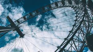 Worms Eye View Of London Eye Ferris Wheel Free Transparent Image HD