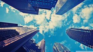 Clouds And Sky High Buildings Free HD Image