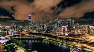 City Lights In Night Wallpaper Download Free