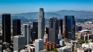 Awesome Los Angeles Skyline Wallpaper Image High Quality