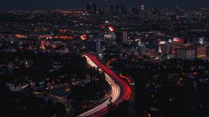 Los Angeles Night Background Download HQ Wallpaper