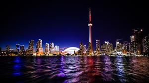 Toronto City And Sea Water Reflection HD Image Free Wallpaper