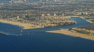 Los Angeles Aerial View Free Photo Wallpaper