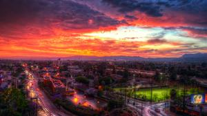 Los Angeles Sunset Wallpaper Download Free