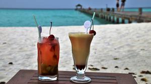 Holiday Beach Summer Cocktail Drinks View Free HD Image