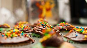 Cupcakes Sprinkles Depth Of Field Image Wallpaper Image High Quality