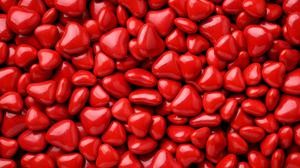 Red Heart Candies Hd Free Download Wallpaper HQ