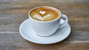 Cup Of Latte With Beautiful Heart Art HD Image Free Wallpaper