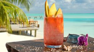Cocktails Drinking Glass Tropical Beach View Free Download Wallpaper HQ