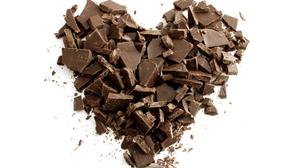 Heart Chocolate Crumbs Free Photo Wallpaper