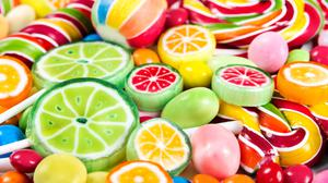 Multi Shape And Color Sweet Candies Free Wallpaper HQ