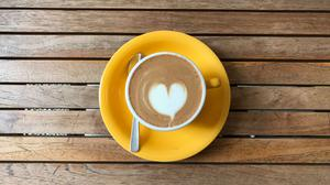Espresso With Heart Design Download HD Wallpaper