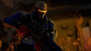 Soldier 76 Wallpaper Free Photo