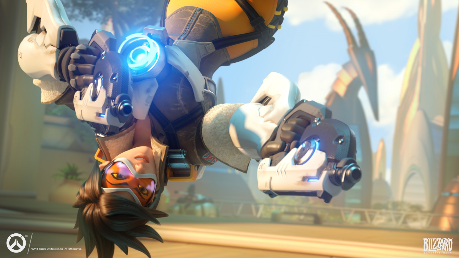 Tracer Overwatch Action Free Hd Image Mewallpaper