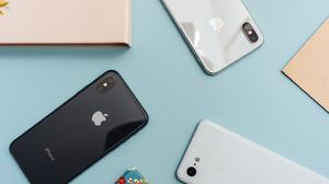 Apple Iphones Smartphones Flat Lay Download HD Wallpaper