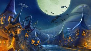Halloween Spooky Night Full Moon Free HD Image