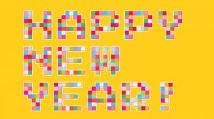 Happy Colorful New Year Free Download Wallpaper HD