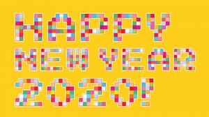 Happy New Year 2020 Pixel Art Free HD Image