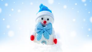 Christmas Snowman Winter, Snowflakes Download HD Wallpaper